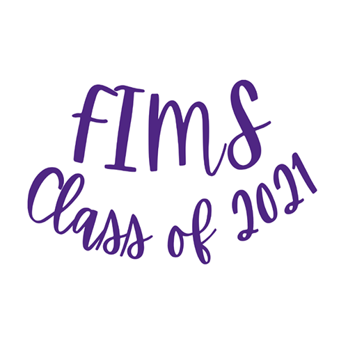 FIMS Class of 2021 Sticker in Western purple.